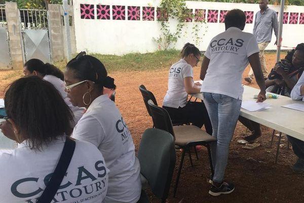 Expulsion à la Cotonnière le CCAS de Matoury