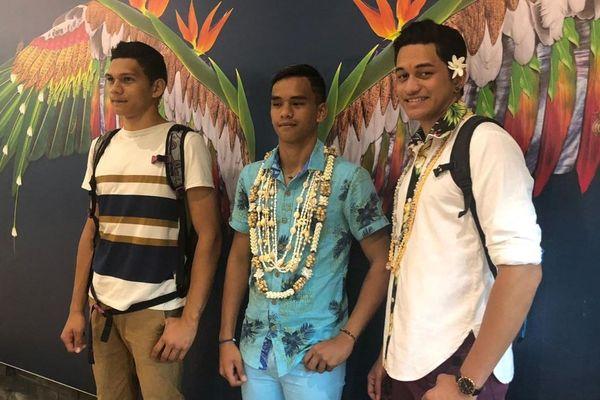 3 adolescents du Lion's Club