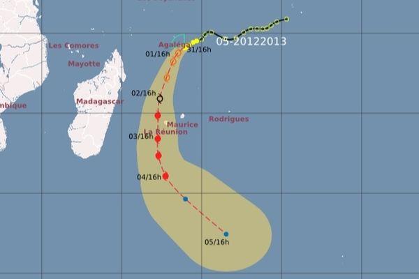 trajectoire perturbation tropicale