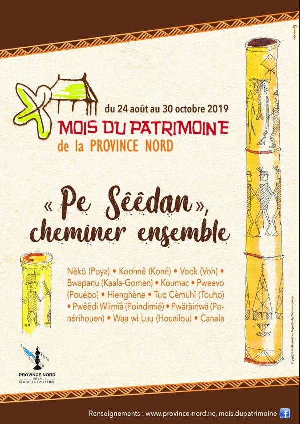 Affiche mois du patrimoine 2019 en province Nord