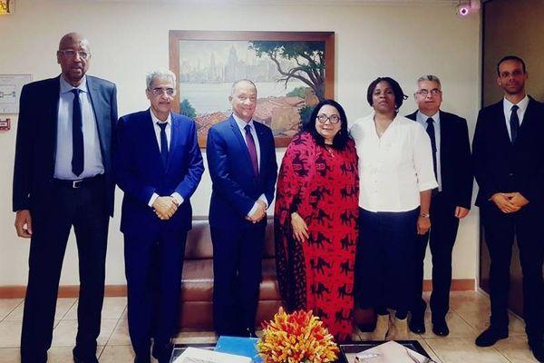 Les élus guyanais et la vice-ministre de la santé de Cuba