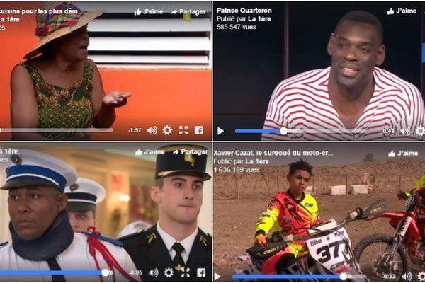 TOP 5 des vidéos les plus vues sur la page Facebook de La1ère