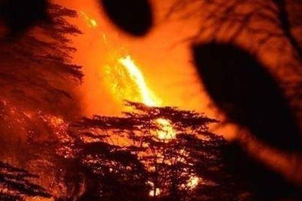 incendie à Mahina