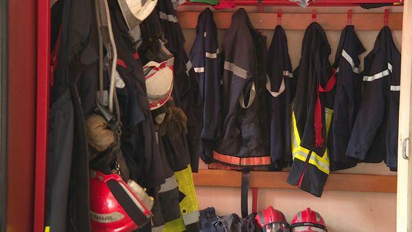 Vestiaire des pompiers de Houaïlou à Wani, septembre 2019