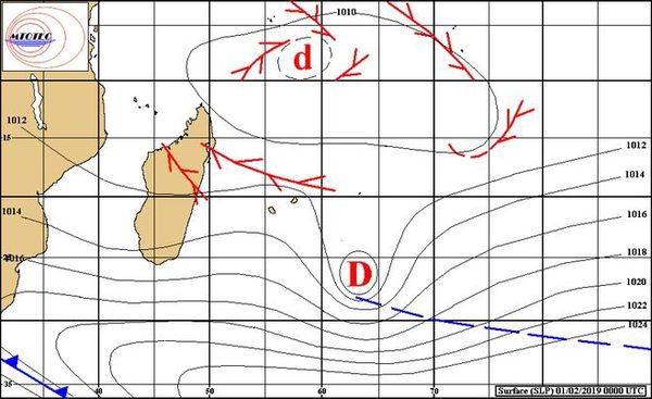 Analyse de surface de l'océan Indien