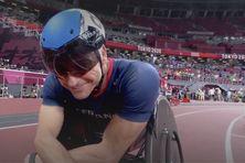 Pierre Fairbank avant la finale du 400 m T 53 à Tokyo, le 29 août.