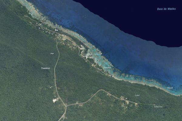 Vue satellite de Roh (ou Ro), dans le Nord de Maré.