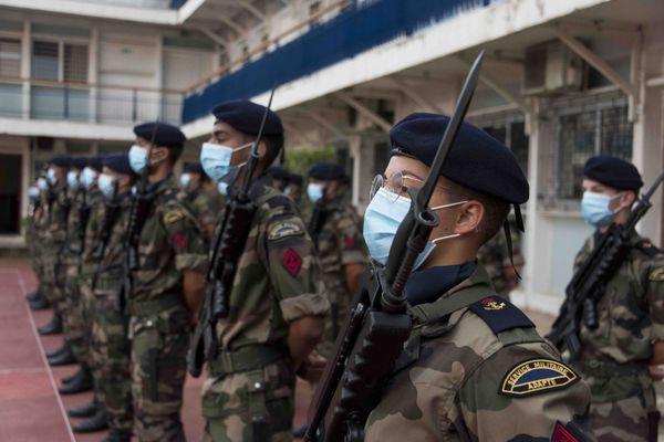 RSMAR vie militaire et prise d'armes