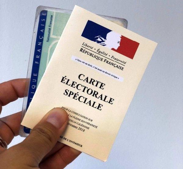 Carte électorale spéciale pour le référendum
