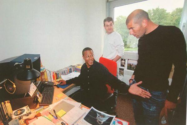 Albert Couriol et Zinedine Zidane