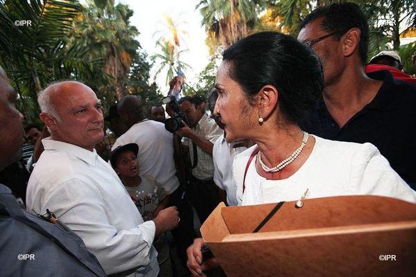 municipales 2020 Saint-Paul Huguette Bello Alain Bénard