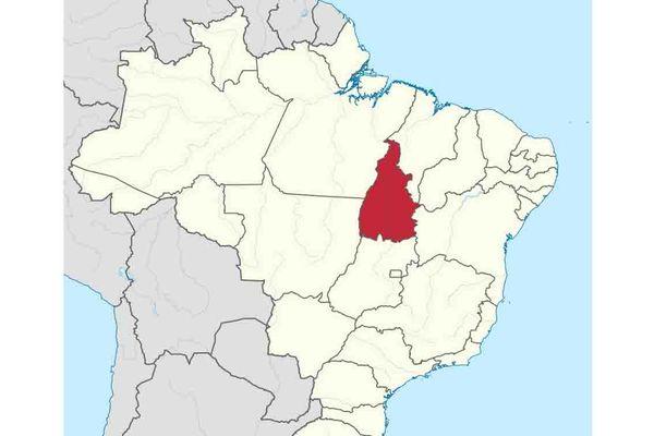 Etat amazonien du Tocantins (en rouge)