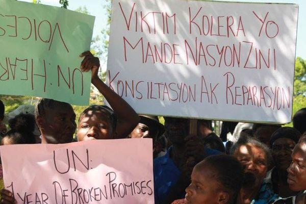 Haïti, le choléra, la population demande que justice soit rendue