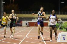 Le Réunionnais Ruben Gado remporte le 400m du décathlon.
