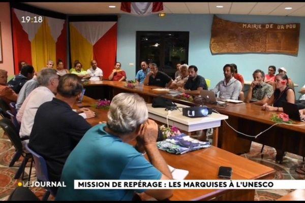 Repérages en cours pour le classement des Marquises à l'UNESCO