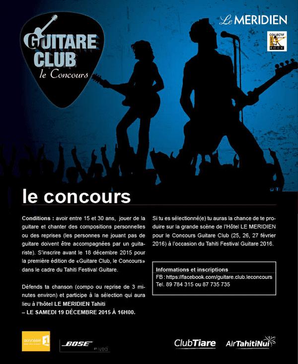 Affiche Guitare Club 2016