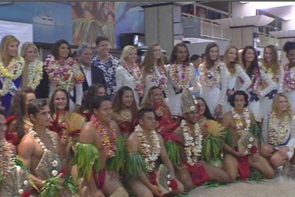 Arrivée des Miss à Tahiti