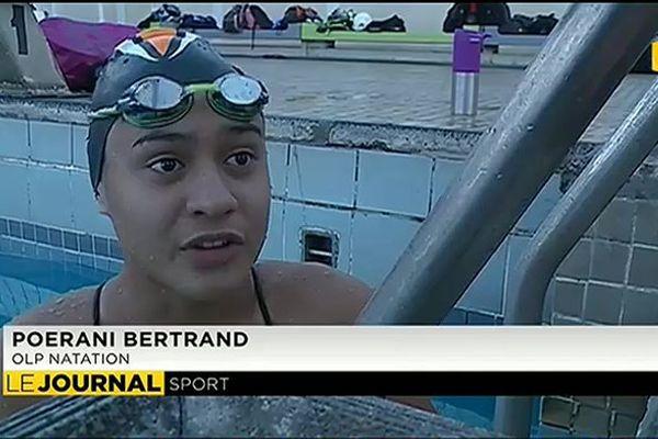 Poerani Bertrand, une nageuse d'avenir
