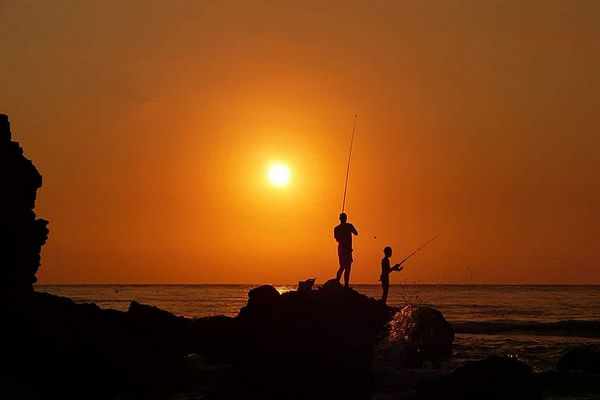 Pêcheurs au moulinet
