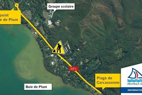 Carte de travaux au Mont-Dore, Plum