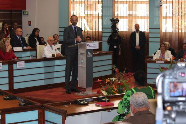 Edouard Philippe en Calédonie discours devant le Congrès 2 (5 décembre 2017)