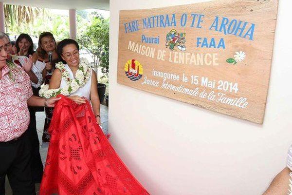 inauguration maison enfance polynésie