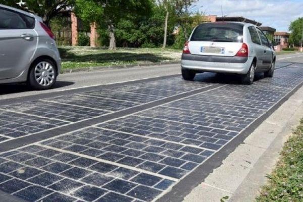 Route photovoltaïque à Rodrigues janvier 2020