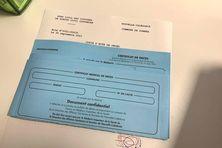 Formulaire de certificat de décès, mairie de Dumbéa.
