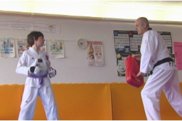 Enzo Goris à l'entraînement