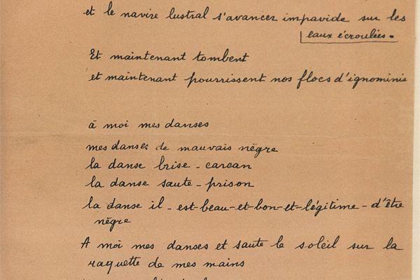Manuscrit original du Cahier d'un retour au pays natal