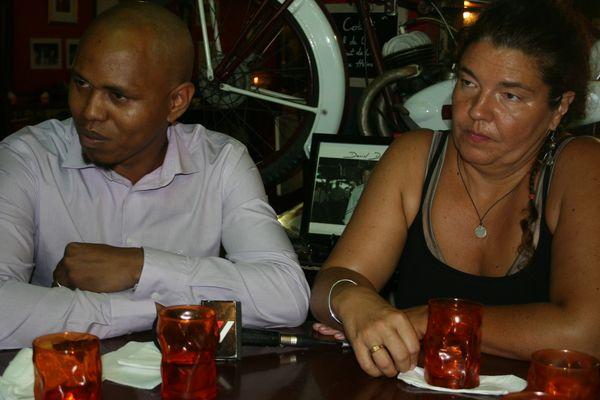 Maître Nadjim HAMADA(à gauche)et Maître Catherine PREAUBERT(à droite)
