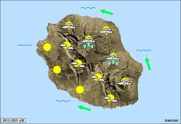 Carte météo 4 novembre 2019
