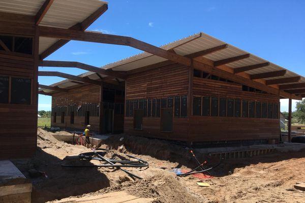 Le bâtiment de la future communauté thérapeutique d'Awala-Yalimapo