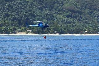 helicoptère feu punaauia