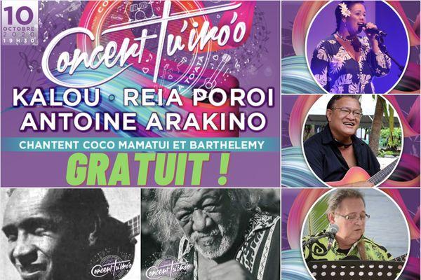 Le concert Tu'iro'o offert à la population !
