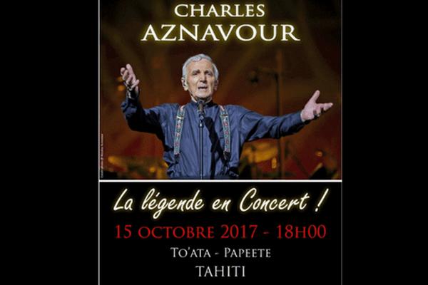 Charles Aznavou à Tahiti !