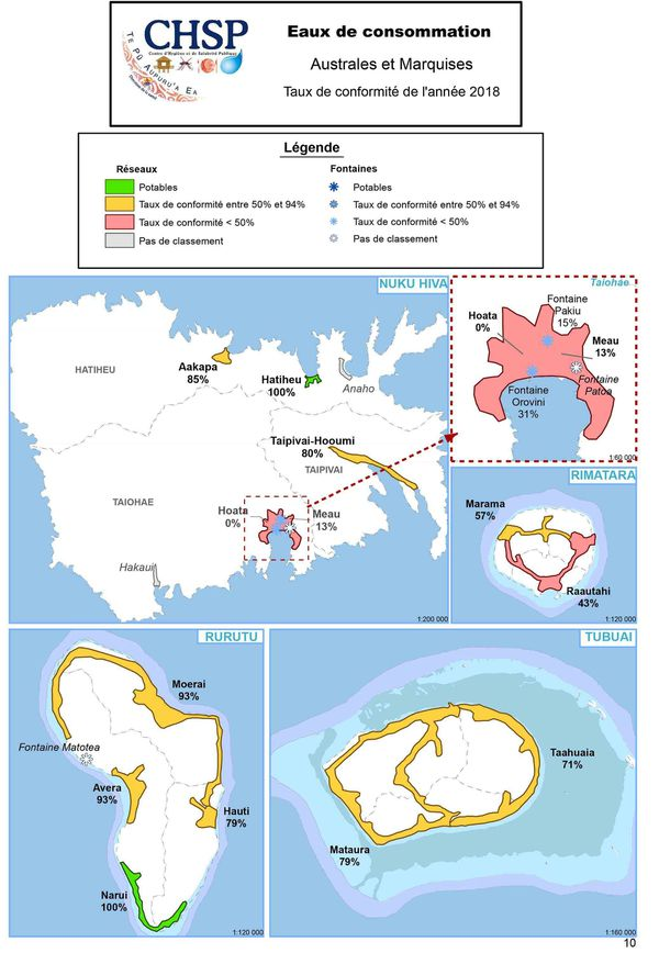 Qualité eau de consommation Marquises et Australes