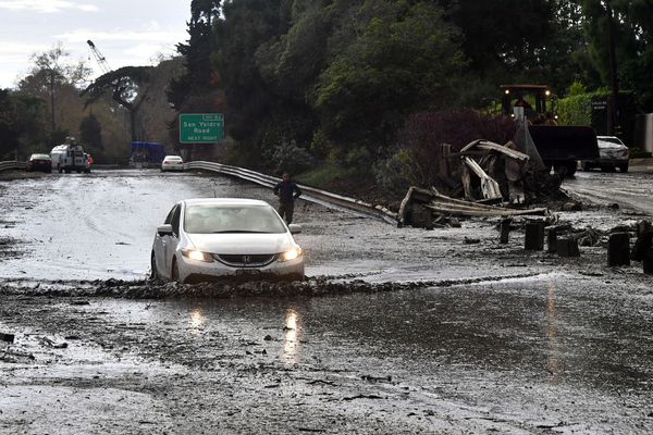 coulée de boue en Californie