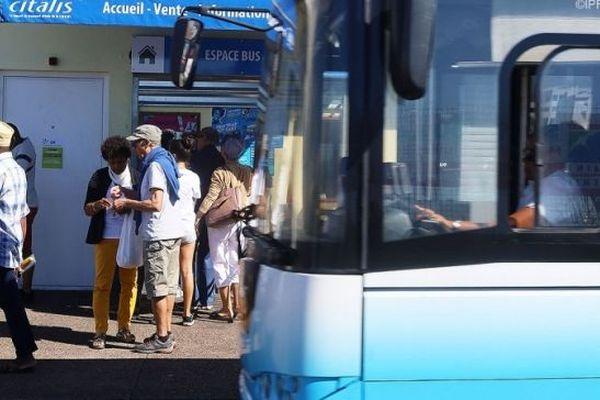 Le réseau de bus Citalis dans le nord de La Réunion.