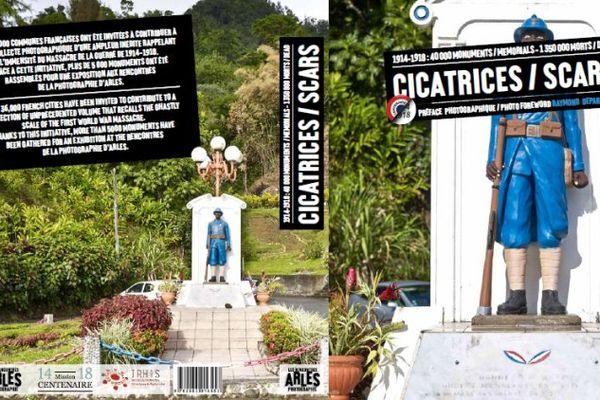 Un poilu noir, caractéristique du monument aux morts de Fonds Saint Denis en Martinique