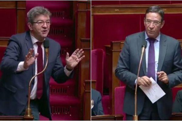 Jean-Luc Mélenchon et Philippe Gomès à l'Assemblée Nationale.