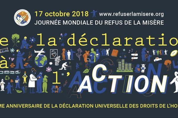 Affiche journée mondiale du refus de la misère 2018