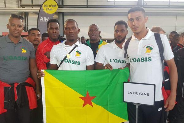 L'équipe des pompiers de Guyane 2019
