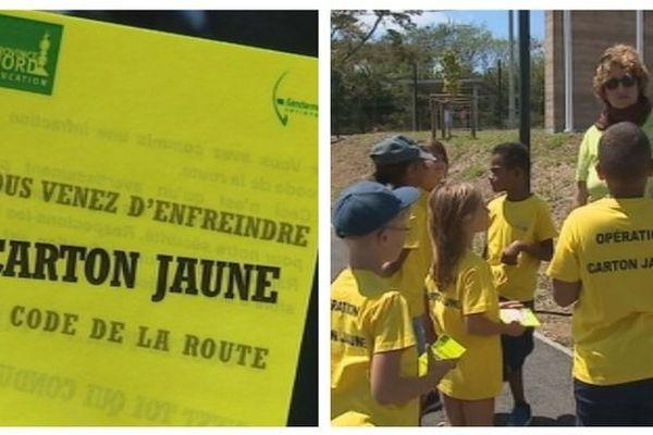 """Koné : respect du code de la route """"opération carton jaune"""""""