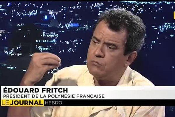 Le président de la Polynesie française Edouard Fritch, était l'invité du journal