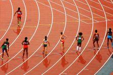 Piste athlétisme lors d'une compétition internationale.