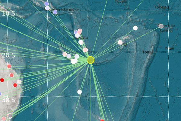 Séisme au large des îles Loyauté 5 avril 2021