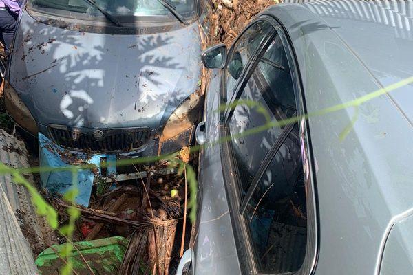Les dégâts dans les rues d'Acoua
