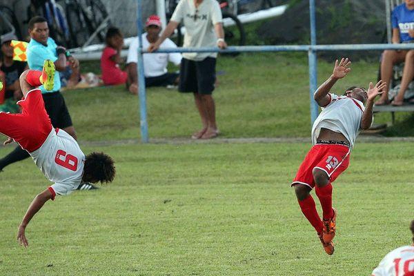 Les Cagous après leur victoire 3-2 contre PNG.