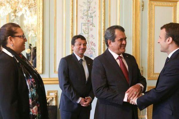 Macron et Fritch à l'Elysée